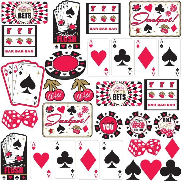 Place Your Bets Casino Cutouts 30ct