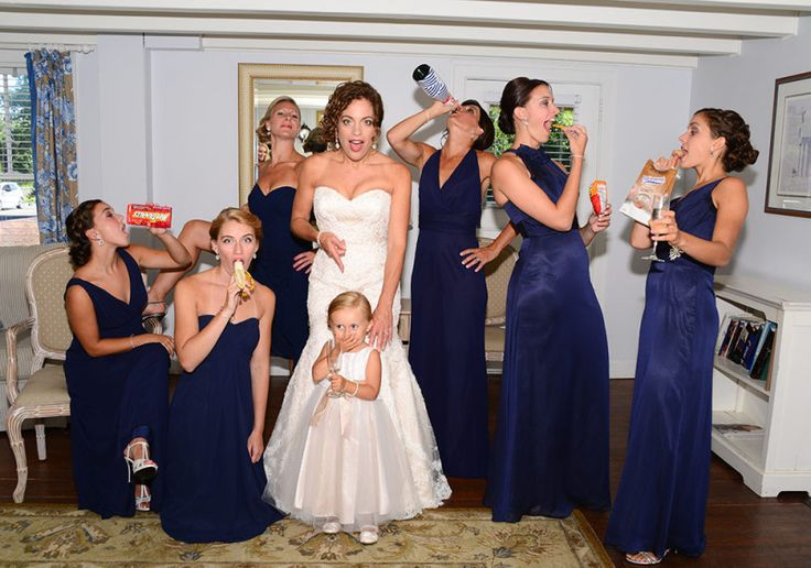 Why not have some funny bridesmaid photos