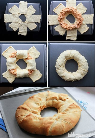 Buffalo Chicken Crescent Ring - Food Recipes. With a different filling maybe?
