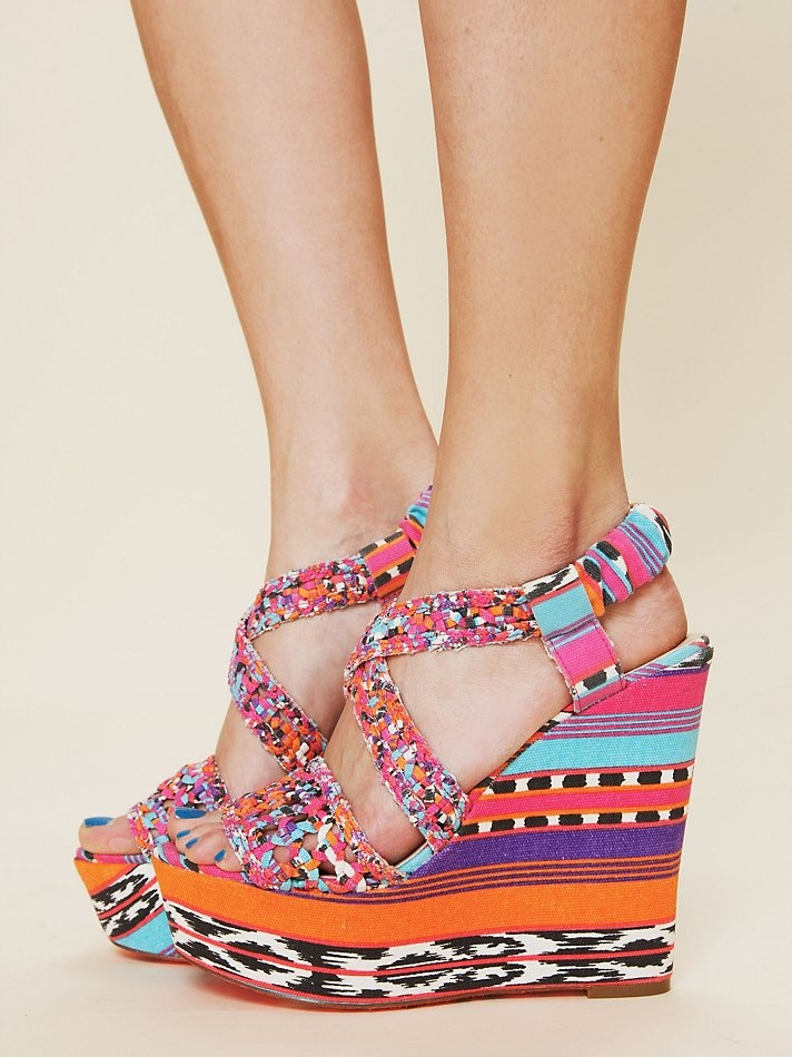 Betsey Johnson Palm Beach Wedge at Free People Clothing Boutique