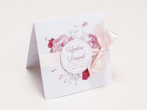 Zaproszenia ślubne z kwiatem Peonii - artMA