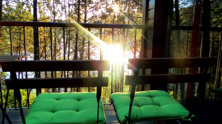 Sunrise at Lima Escape. From the terrace of Bungalow T1+1. Our beautiful treehouse.  Lima Escape Camping & Glamping.