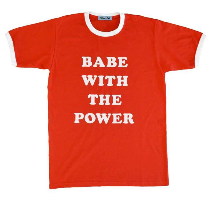 Image of BABE WITH THE POWER T-SHIRT (RED)