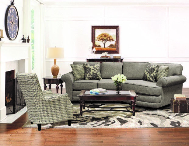 Our Brantley collection is a transitional group with quite a bit of casual flair that will look great in any home. With its rolled arm and matching welt accent, you can't go wrong! Dress is up or down with your choice of fabrics. The collection features a sofa, loveseat, chair, ottoman, queen sleeper, and multiple sectional configurations.
