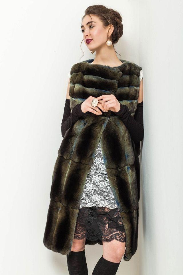 Dyed Chinchilla Fur Vest