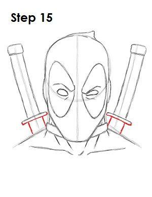 Deadpool Marvel Drawing 15