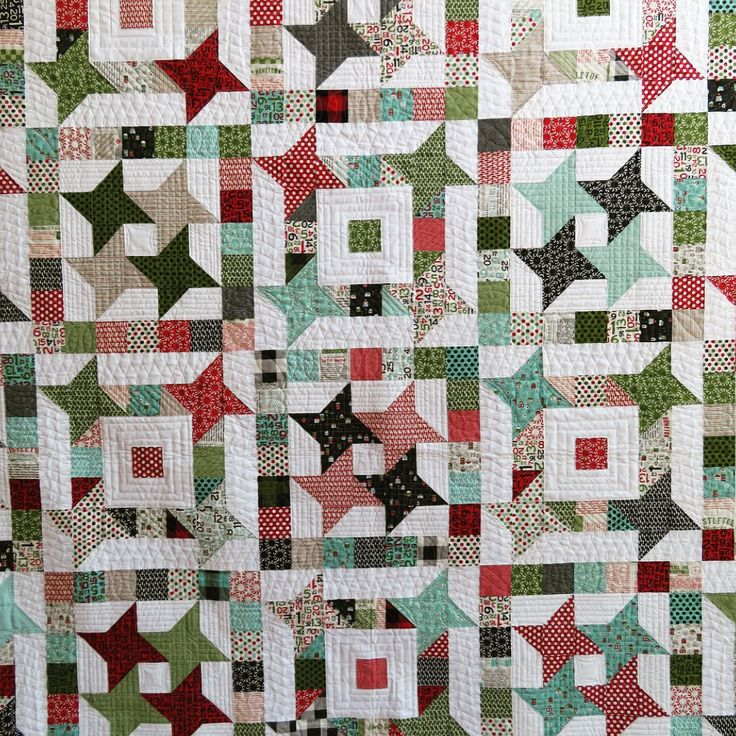 Hometown Stars!  Made with Hometown Christmas by Sweetwater, this quilt was designed and made by Thelma Childers - @thelmacupcake - with an assist from a friend.  The pattern is free on The Cutting Table - and you could win a kit to make the quilt. The blog link is in the profile. ✂️  :  :  #showmethemoda #modafabrics #quilting #patchworkquilt #sewinglove