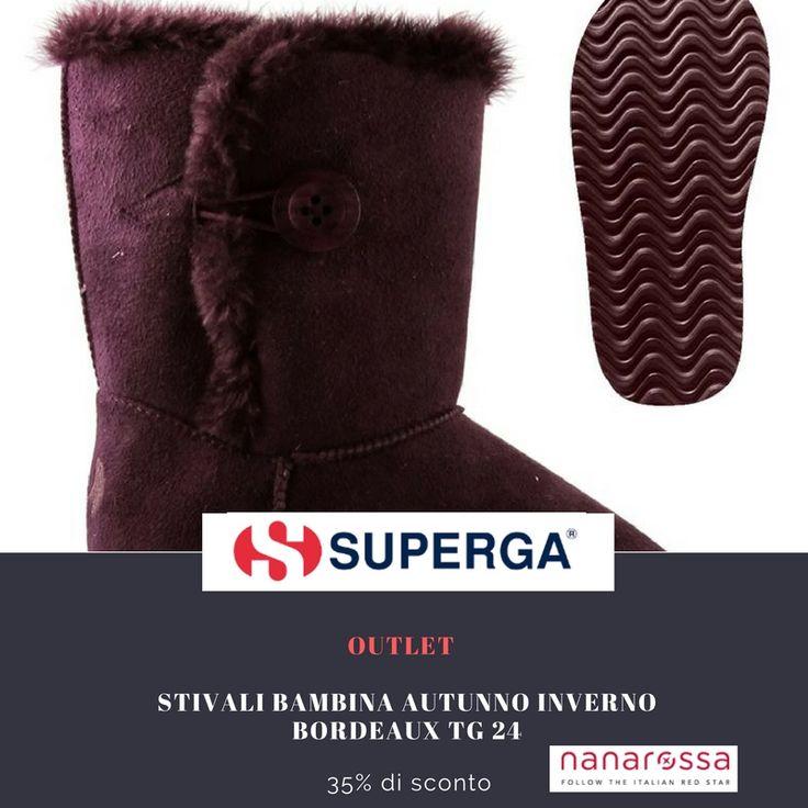 sezione OUTLET di #nanarossa  Sconto del -35% sugli stivali SUPERGA bambina guarda qui: https://www.nanarossa.com/it/scarpe/47282-stivali-superga-4491-ssuej-bambina-autunno-inverno-bordeaux-tg-24.html