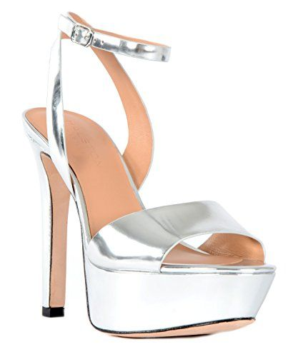 1ec041f94fee Halston Heritage Bobbie Mirror Leather Platform Sandal 10 Silver      Details can be found by clicking on the image. (This is an affiliate link)    ...