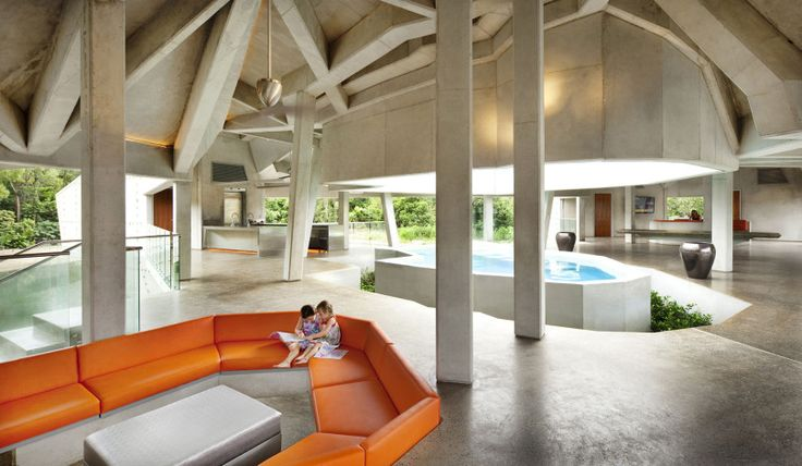 Concrete House by Charles Wright Architects  http://www.homedezen.com/stamp-house-by-charles-wright-architects/