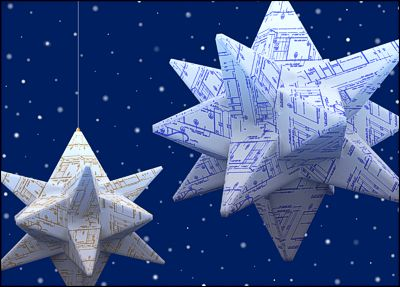 Origami Blueprint Stars (Glossy White) #700. Origami CardsChristmas ...