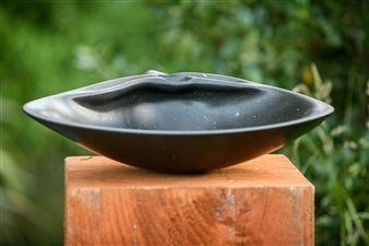"Richard Page, ""Wedge Shell"" | Basalt | $14,200 | Source: www.art-mine.com/... | Agora Gallery | Contemporary Fine Art | NYC, NY"