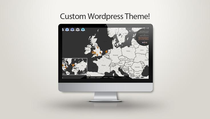 Custom Wordpress Portfolio Website Based on Google Maps