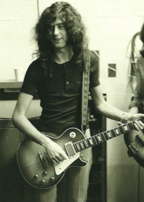 Jimmy Page and his Les Paul.