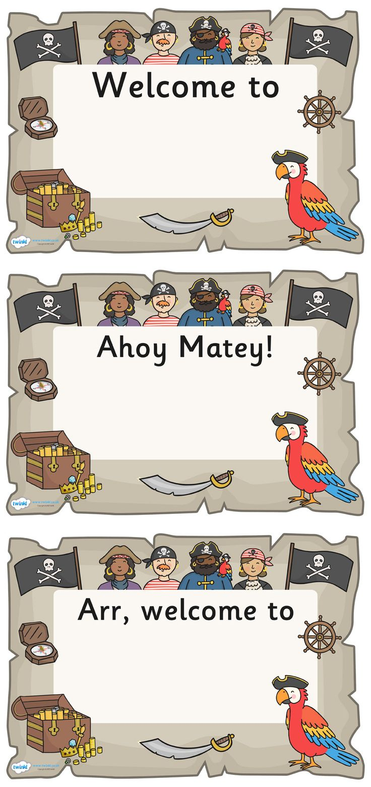 Twinkl Resources >> Pirate Themed Editable Class Welcome Signs  >> Classroom printables for Pre-School, Kindergarten, Elementary School and beyond! Display, Posters, Pirate Theme