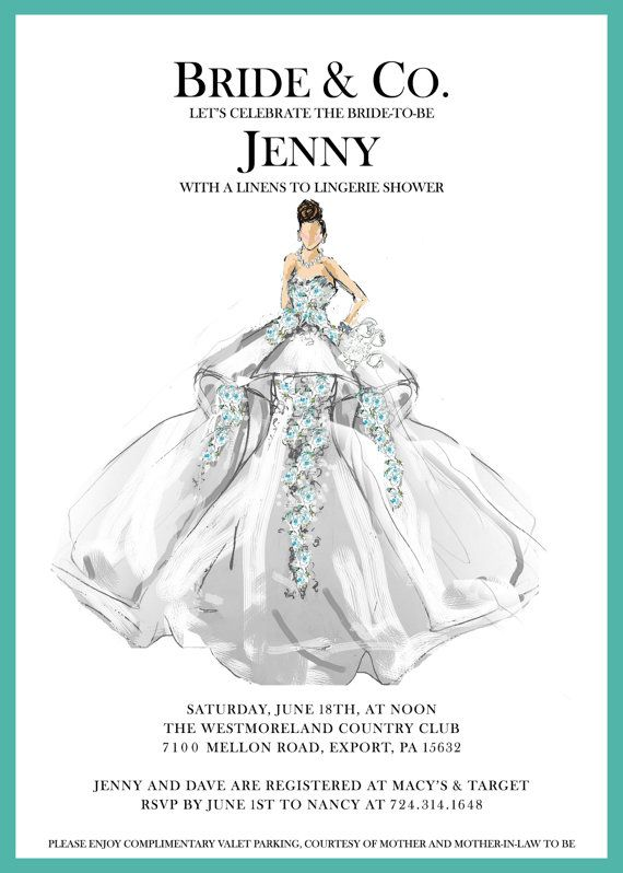 Tiffany & Co. Bridal Shower Invitation - Tiffany's, Breakfast at Tiffany's, Couture, Fashion