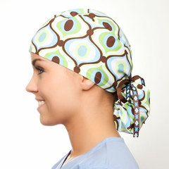 cute medical scrub hats for ponytails