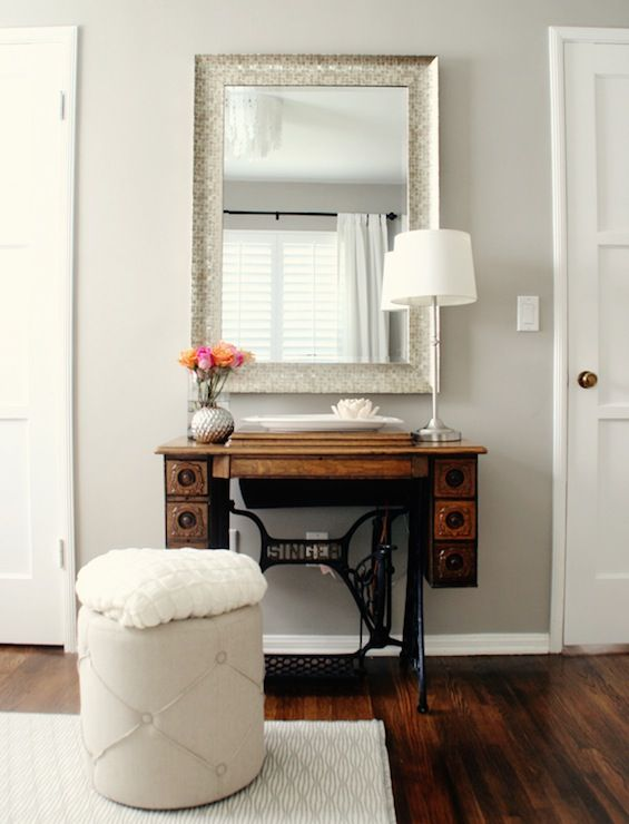 Soft neutrals like Amazing Gray (SW 7044) set the perfect stage to showcase your favorite vintage pieces.