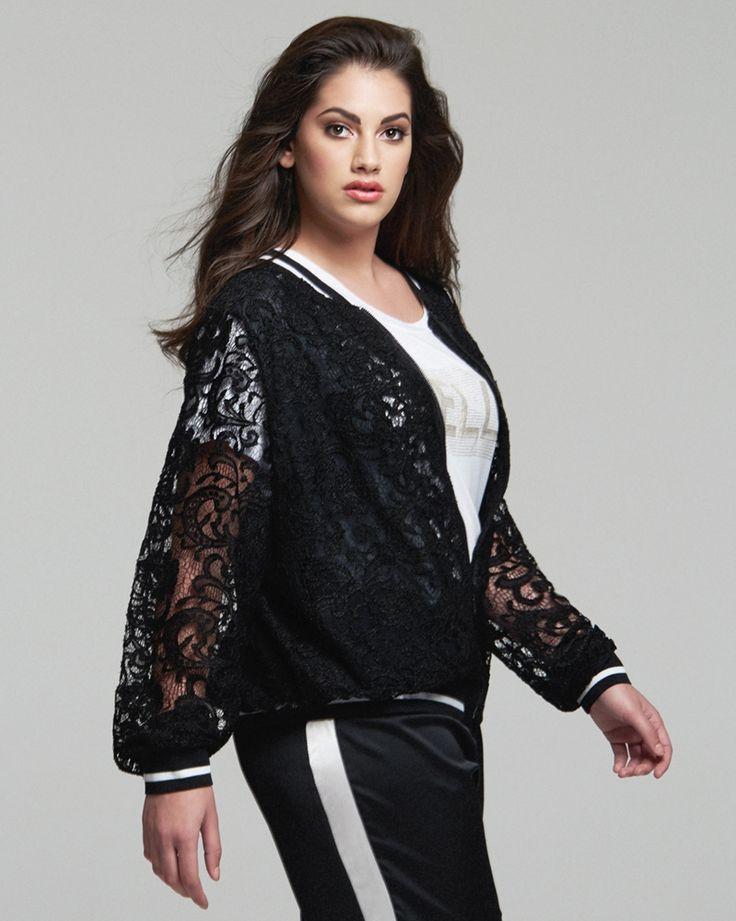 #PlusSize Lace Bomber Jacket | Για αγορά κλικ πάνω στην εικόνα