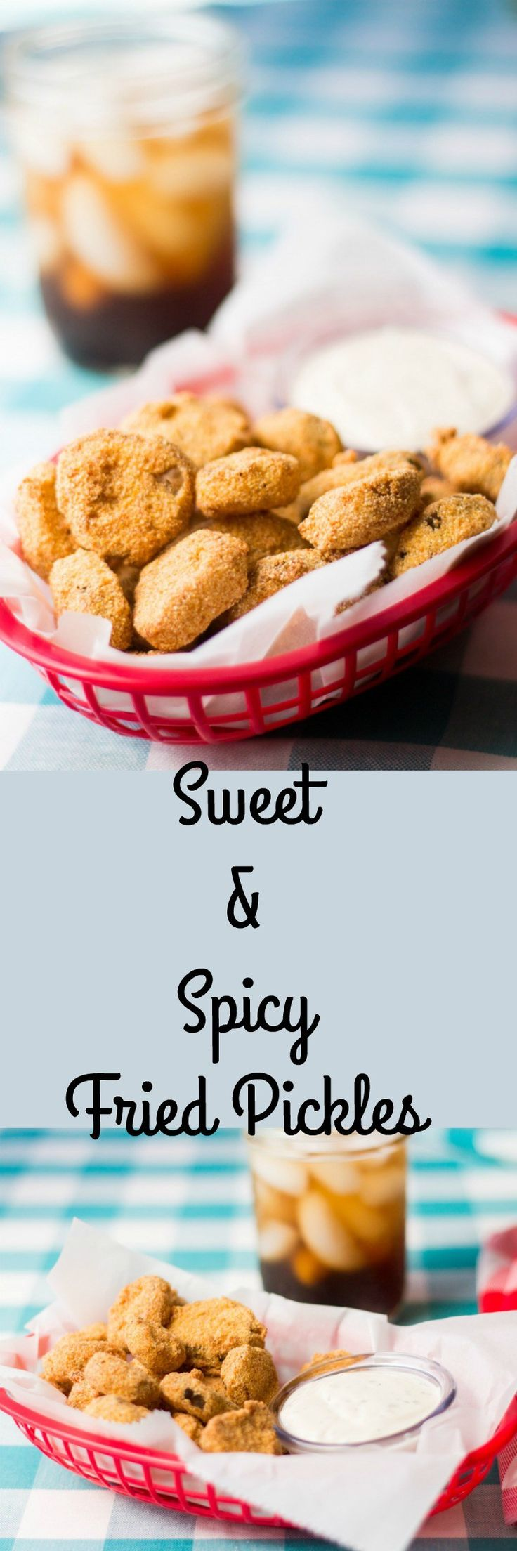 Sweet and spicy pickles or the perfect combination of pickles and breading. Don't like the idea of sweet, change up your pickles.