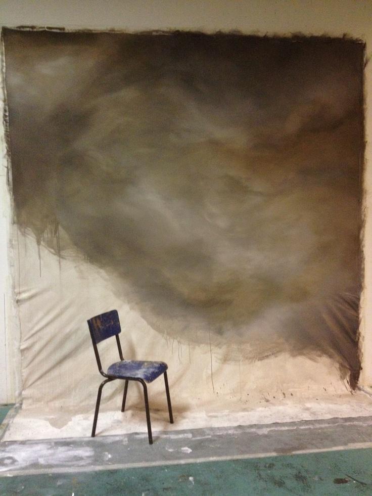 Elaboration de la toile en atelier. Art Craft LOBA PRODUCTION // 2013