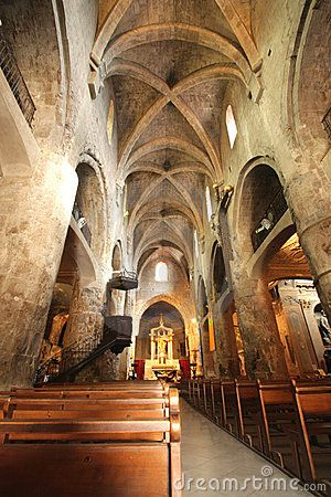The medieval cathedral of Grasse, capital of perfumes, in Provence, France