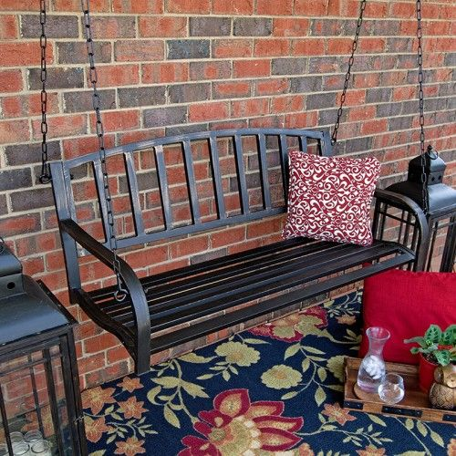 Porchgate Back Bay 4ft. Metal Patio Hanging Swing