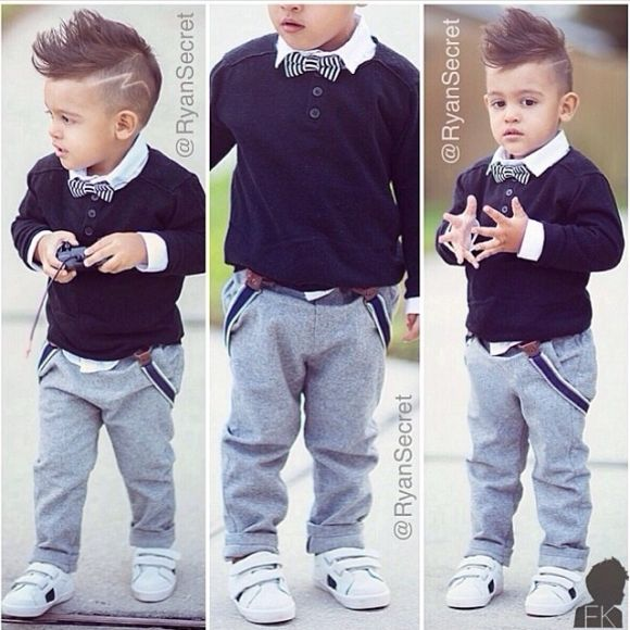 I want this outfit for Izzy and oh how I miss his hair! I love this boys hair cut. Baby swag! No lightening for Izzy though ;0)