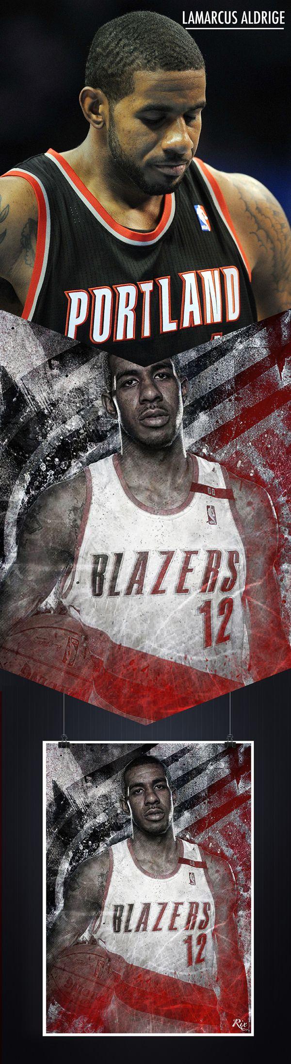 NBA Posters by Riccardo Ferro, via Behance