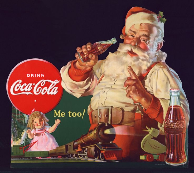 Coca Cola always use Santa Clause as an advertisement for their soda.