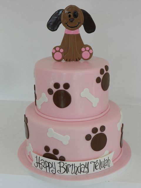 Girly Puppy Dog Cake