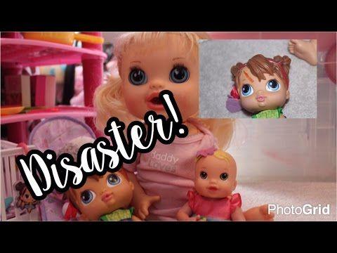 (84) Baby Alive BabySitting DISASTER! Clementine BabySits and Makayla Gets Hurt!!! - YouTube