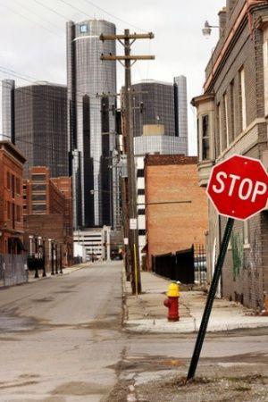 The Renaissance Center, Detroit.