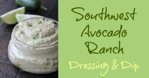 Southwest Avocado Ranch Dressing & Dip (Paleo, Dairy Free)  by Primally Inspired