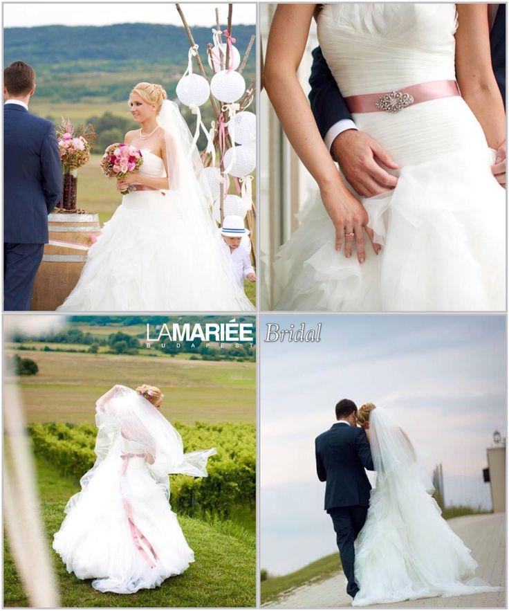 Krisztina menyasszony by La Mariée Budapest - Benicarlo esküvői ruha by Pronovias http://lamariee.hu/menyasszonyi-ruha-kollekciok/eskuvoi-ruhak