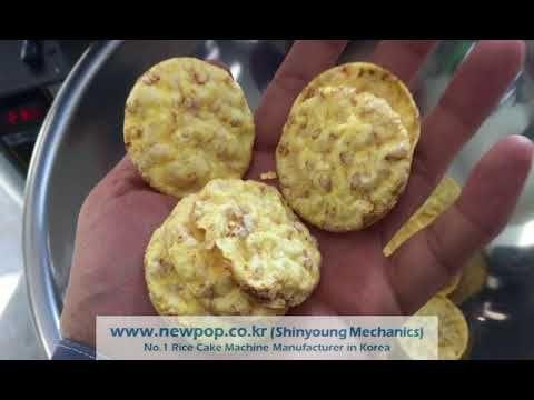 Test of Corn 90% + Quinoa 10% by SYP4506 Rice cake machine