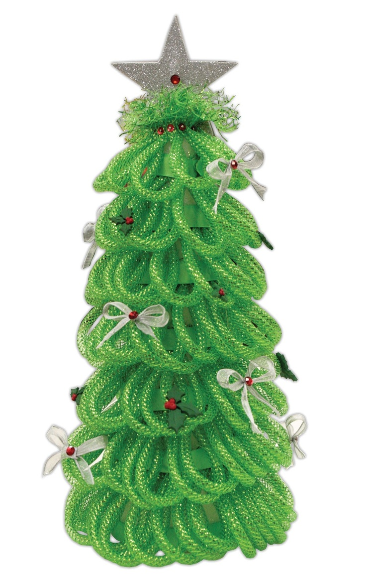 Christmas tree decorating with burlap and deco mesh craft outlet - Deco Mesh Tree Sample From Crafts Direct