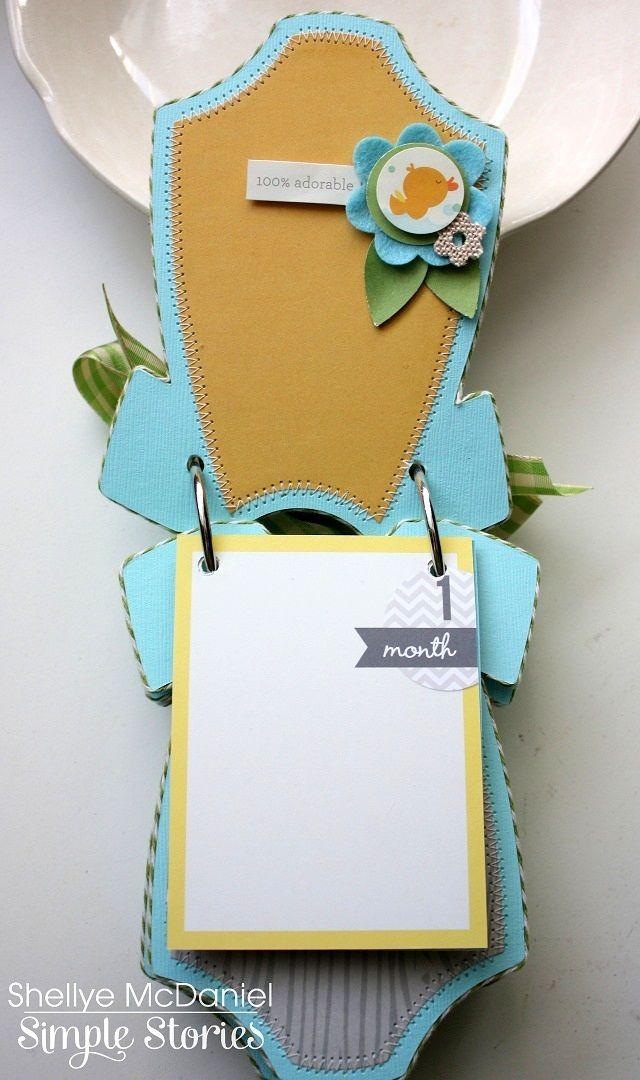 Onesie+Baby+Boy+Mini+Album...Simple+Stories - Scrapbook.com