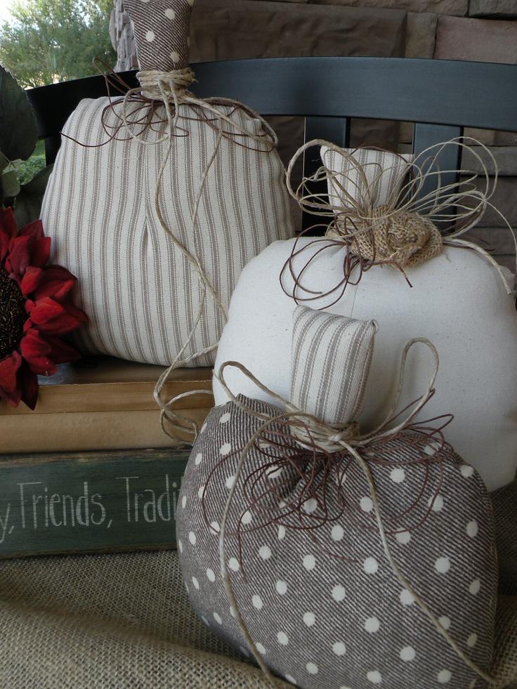 Sprinkles of Fall Fabric Pumpkins