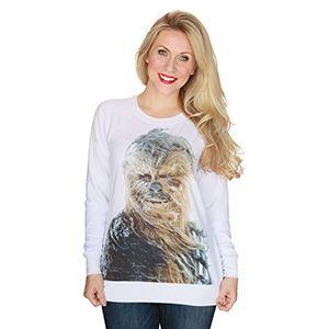 Snowy Chewbacca Ladies' Scoop Neck Sweatshirt | ThinkGeek