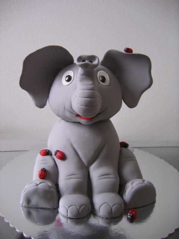 Elephant make from cake! have coworker that would love this