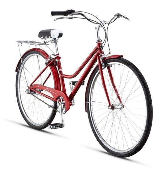 The Schwinn Cream - perfect for all those retro mums.  Red or white with rear rack, mudguards and the hassle free nexus 3 speed internal gear system.  Just gorgeous