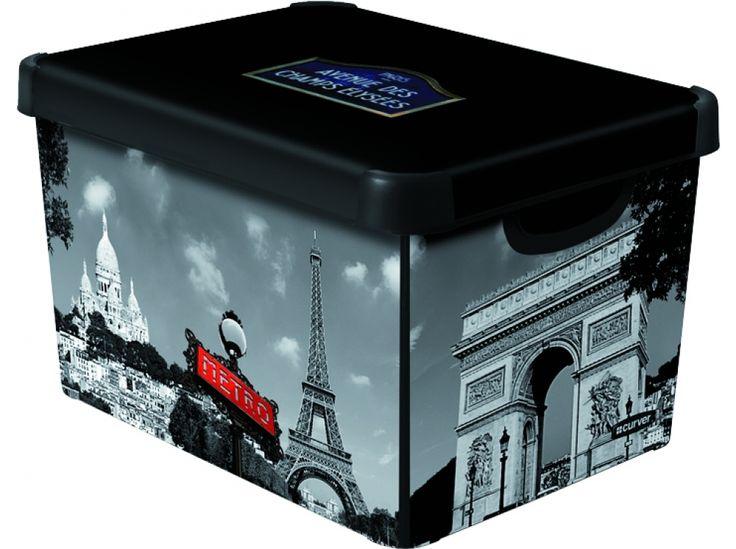 Pudełko duże z pokrywą Paryż 29,5 x 39,5 x 25 cm CURVER http://sklep.dajar.pl/pudelko-duze-z-pokrywa-paryz-29-5-x-39-5-x-25-cm-curver