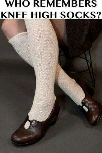 Knee high socks!