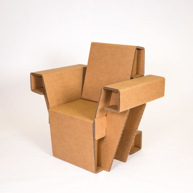 The Chairigami Arm Chair For Days When You Feel Like Ruling Cardboard World