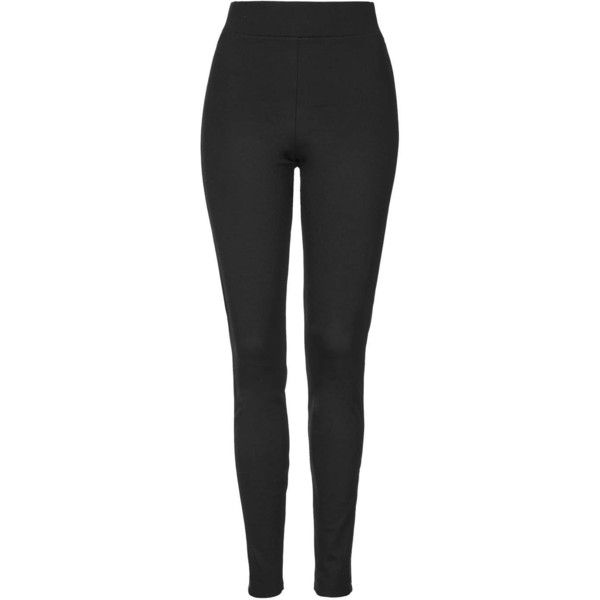 TOPSHOP TALL PU Side Stitch Legging ($40) ❤ liked on Polyvore featuring pants, leggings, bottoms, calça, black, high waisted black pants, black stretchy pants, stretch leggings, thick black leggings and topshop leggings