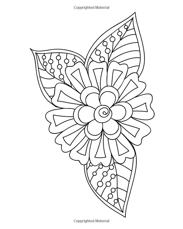 Amazon Easy Flowers Coloring Book 60 Very Simple And Basic Doodle Style Floral Designs In Large Print Beginners Books Of Ad