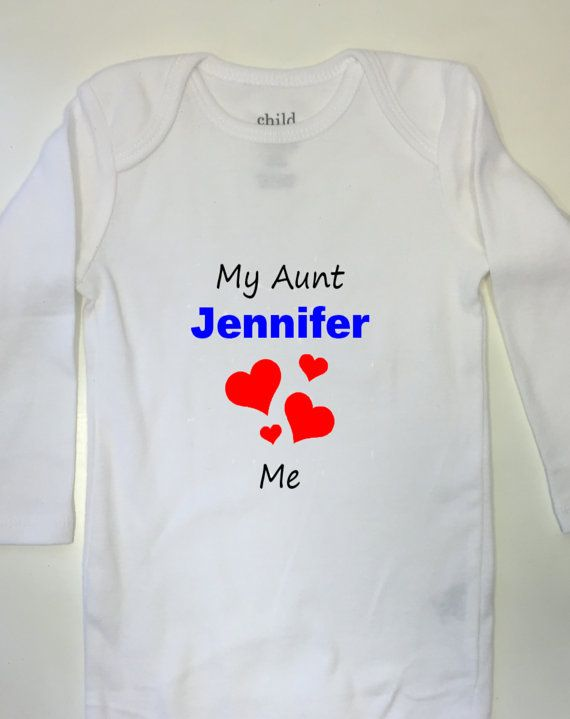 Baby Gift Aunt : Aunt gift for baby my quot s name here hearts me