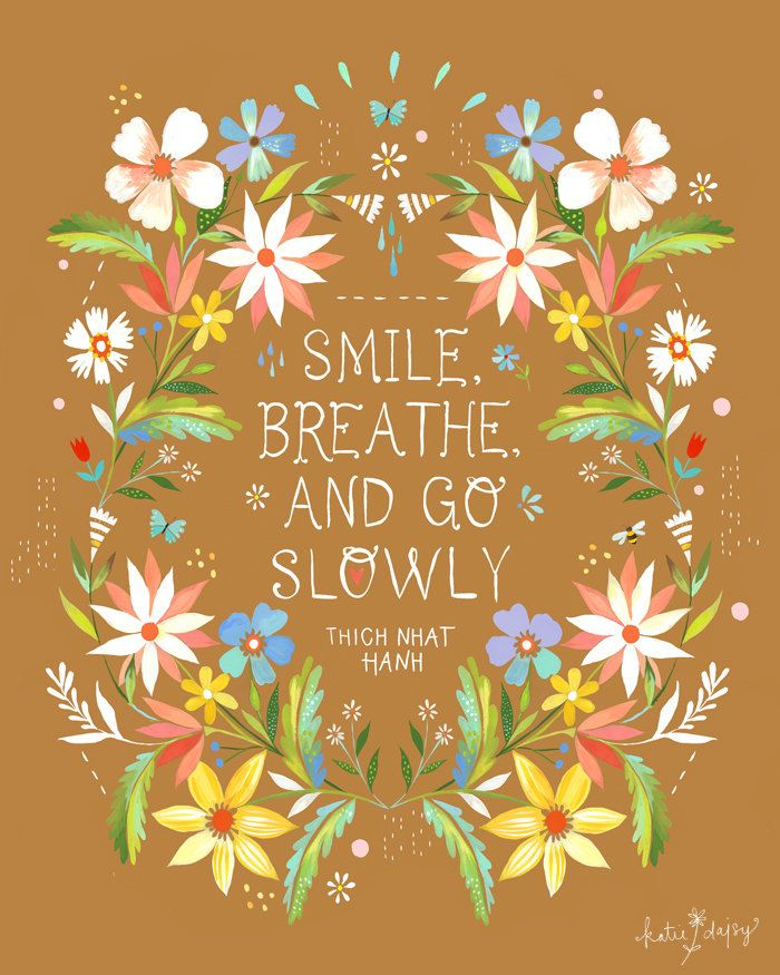 Go Slowly by thewheatfield on Etsy, $18.00