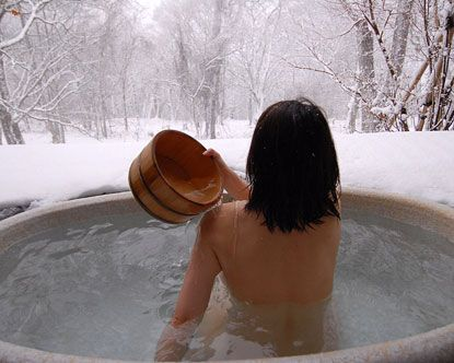 Japanese baths are an integral part of Japanese culture.